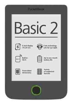 קורא ספרים אלקטרוני בעברית POCKETBOOK 614 BASIC 2